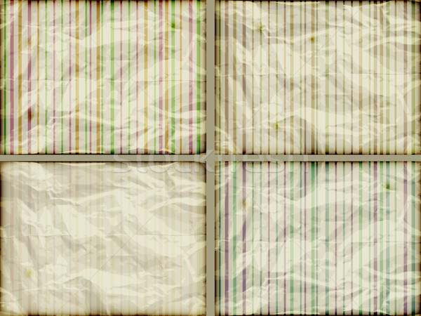 vector set: striped backgrounds on crumpled burning paper Stock photo © alexmakarova