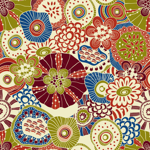 Vector abstract naadloos doodle funky Stockfoto © alexmakarova