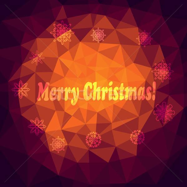 ベクトル クリスマス 抽象的な デザイン 背景 ファブリック ストックフォト © alexmakarova