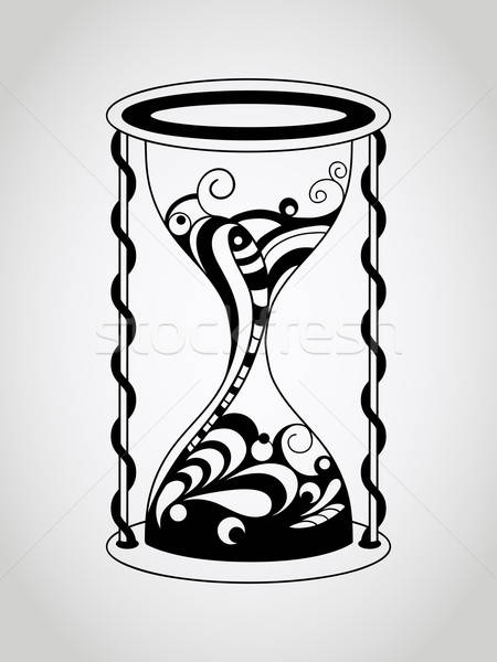 Vector Tattoo Hourglass Stock photo © alexmakarova