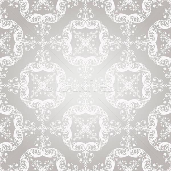 Vector seamless  vintage lacy  floral pattern Stock photo © alexmakarova