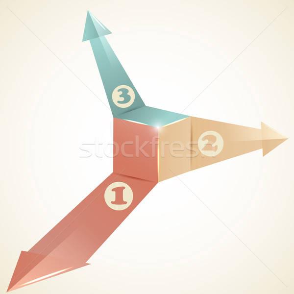 Vettore modello infografica frecce luogo testo Foto d'archivio © alexmakarova