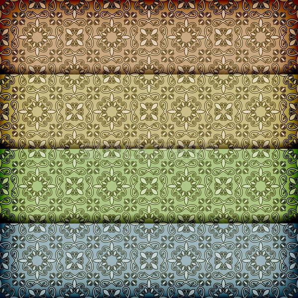 vector seamless retro patterns pattern Stock photo © alexmakarova
