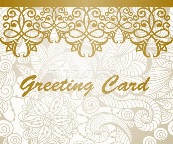 Vector Greeting Card Stock photo © alexmakarova