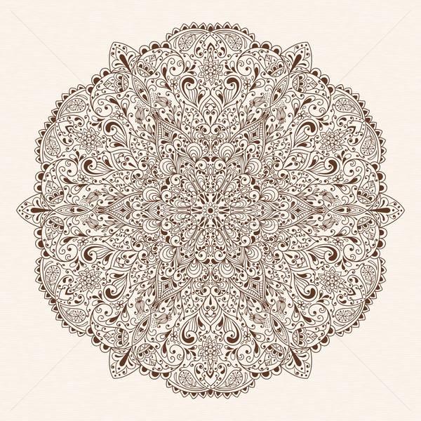 ベクトル 抽象的な フローラル 民族 花 ストックフォト © alexmakarova
