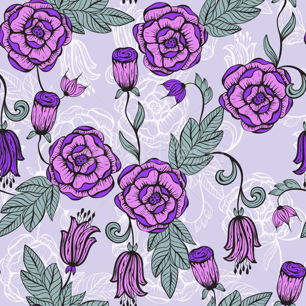 Vector seamlesss Floral pattern Stock photo © alexmakarova