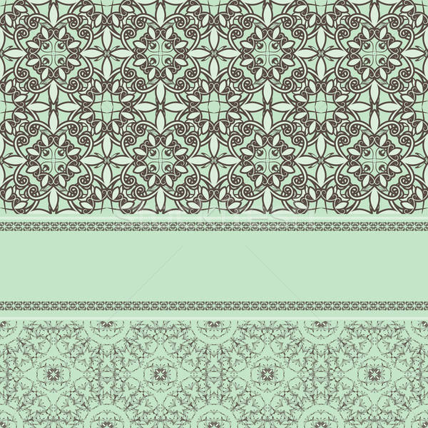 vector vintage pattern with frame for your text Stock photo © alexmakarova