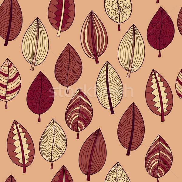 Vektor végtelen minta őszi levelek textúra természet terv Stock fotó © alexmakarova