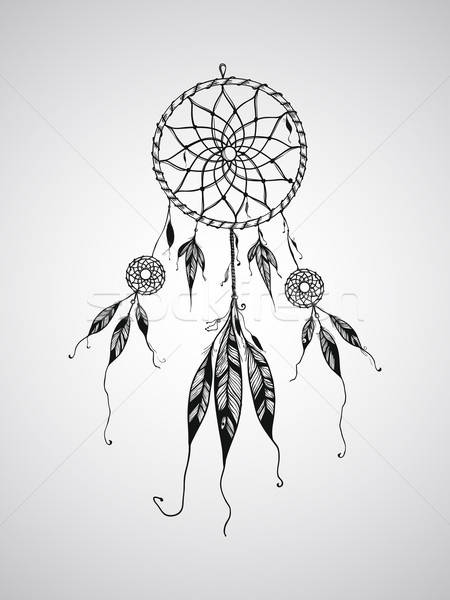 Vector Dream Catcher Stock photo © alexmakarova