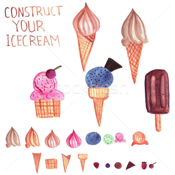 Vector  Ice Cream Constructor Stock photo © alexmakarova