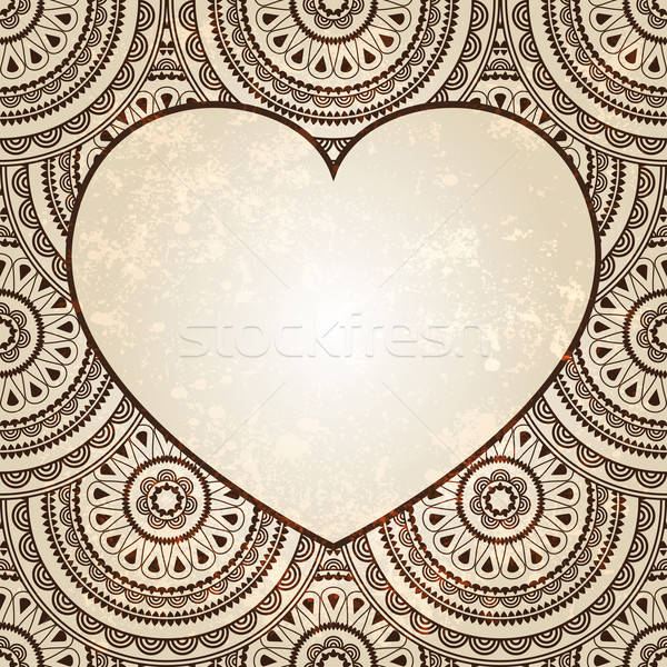 vectorheart on  seamless eastern floral  background  Stock photo © alexmakarova