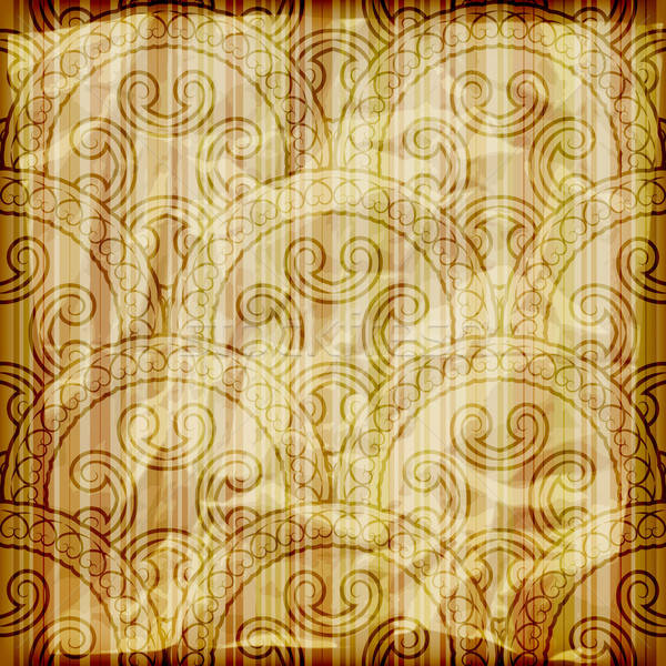 Vector naadloos abstract behang gestreept brandend Stockfoto © alexmakarova