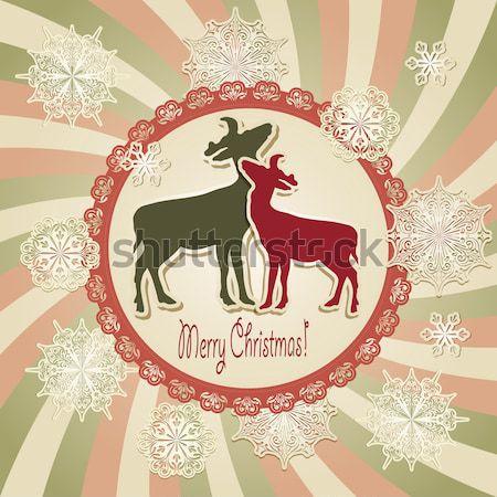 Stock fotó: Vektor · tél · végtelen · minta · karácsony · dekoráció · hópelyhek