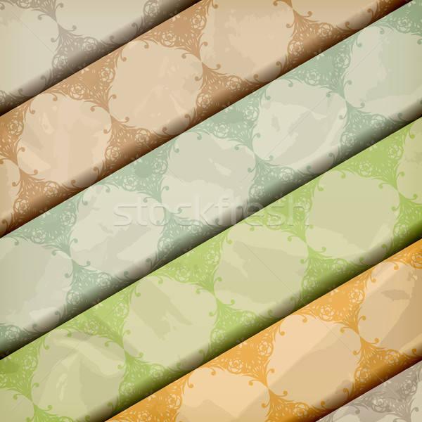 Vector patronen Papierstructuur textuur Stockfoto © alexmakarova