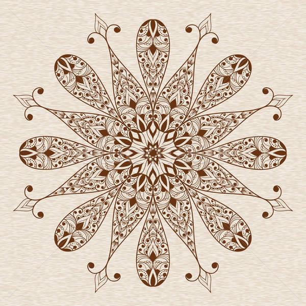 Vetor abstrato étnico floral flor Foto stock © alexmakarova