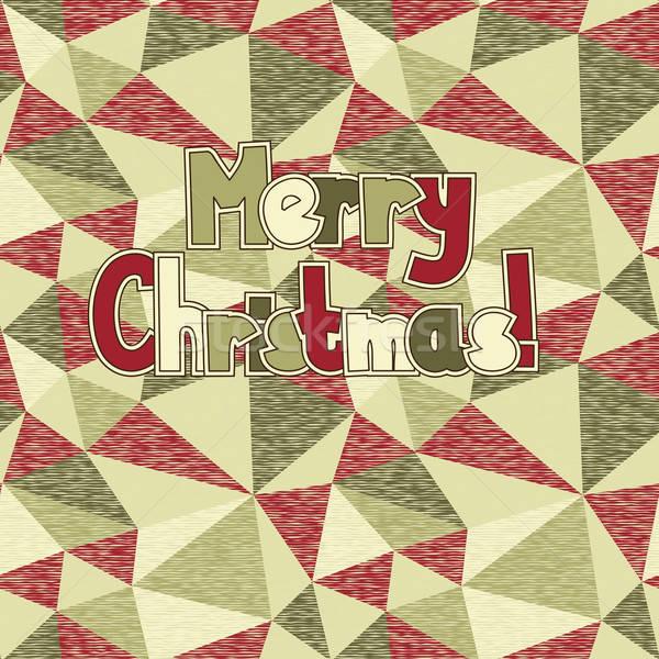 Vidám karácsony vektor végtelenített absztrakt végtelen minta Stock fotó © alexmakarova