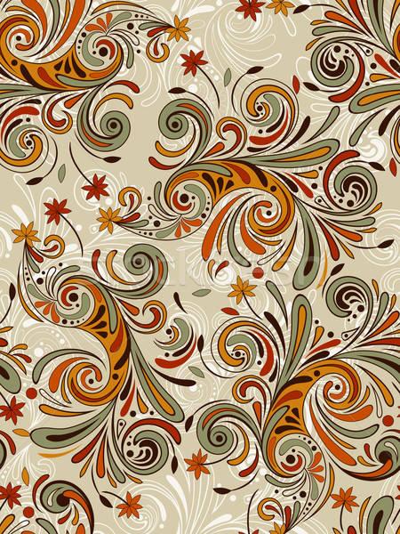 Vector naadloos najaar patroon Stockfoto © alexmakarova