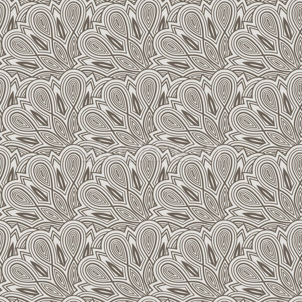 vector seamless floral  monochrome pattern with bizarre flowers Stock photo © alexmakarova