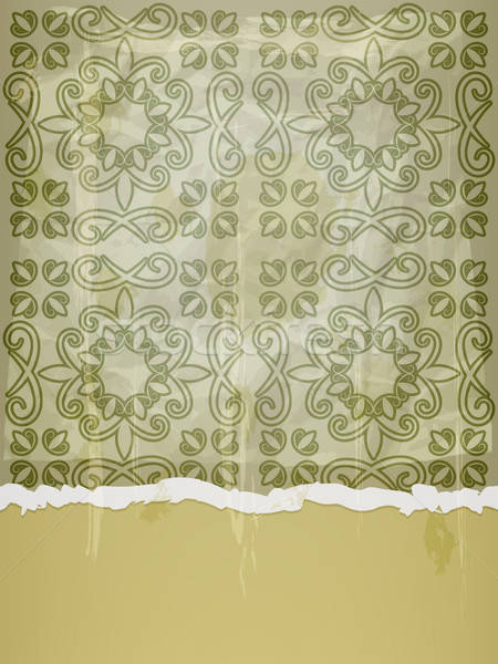 vector seamless pattern on crumpled paper with grunge blots and  Stock photo © alexmakarova