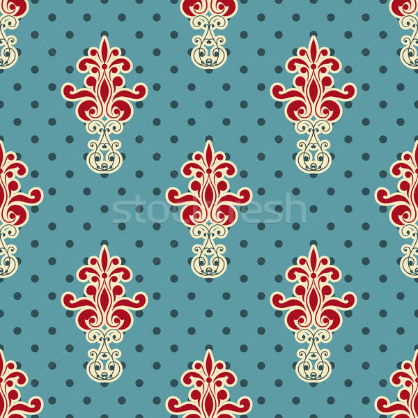 Vector Seamless Floral Wallpaper Pattern Stock photo © alexmakarova