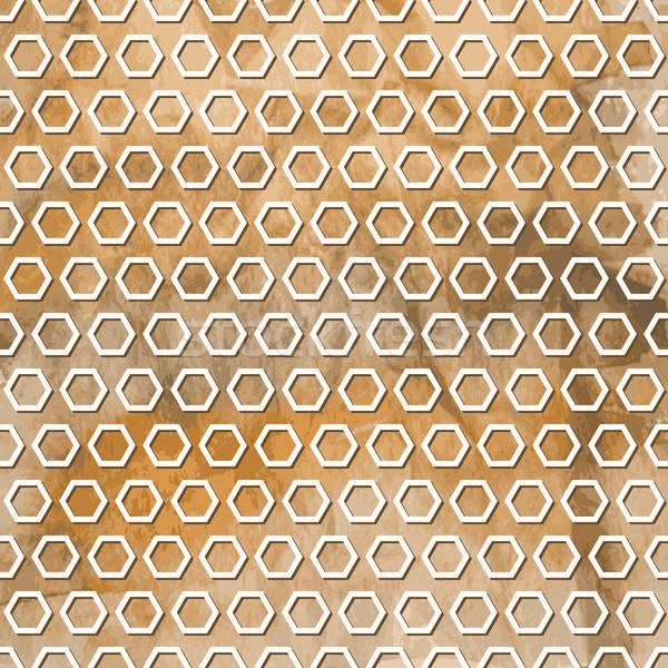 Vektor végtelenített geometrikus minta vízfesték tél papír Stock fotó © alexmakarova