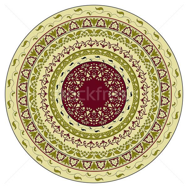 ベクトル サークル フローラル パターン インド スタイル ストックフォト © alexmakarova