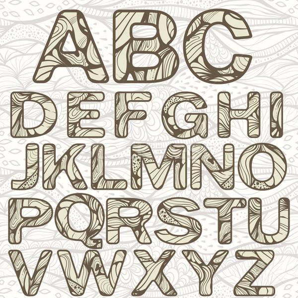 Vektor funky Alphabet editierbar eps Textur Stock foto © alexmakarova