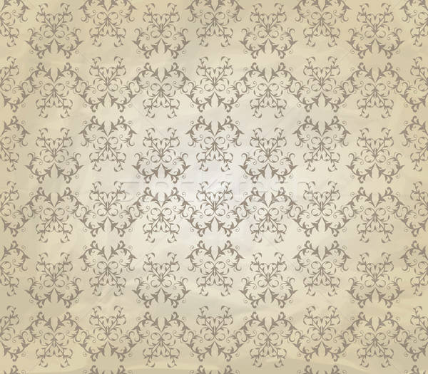 Vector Vintage Seamless Pattern on Crumpled Paper Texture Stock photo © alexmakarova