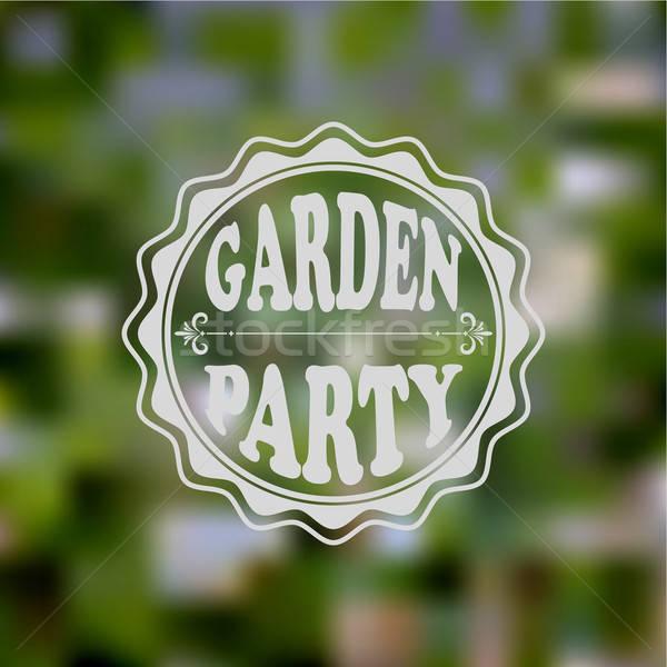 Stockfoto: Vector · tuinfeest · uitnodiging · wazig · helling
