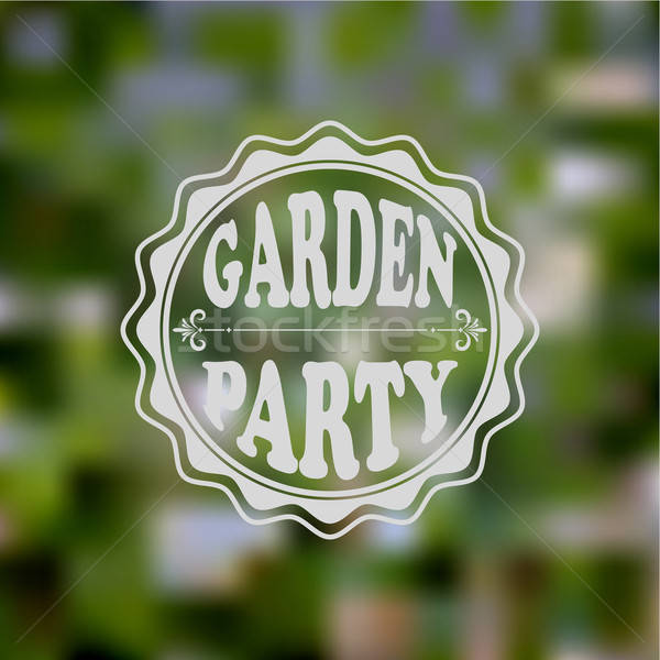 Vector tuinfeest uitnodiging wazig helling Stockfoto © alexmakarova