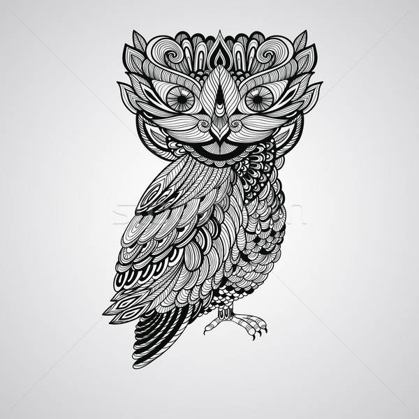 Vector Owl Stock photo © alexmakarova