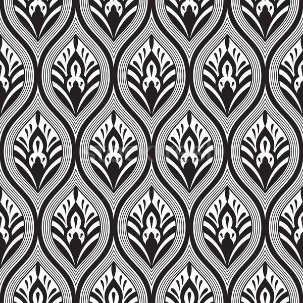 ベクトル シームレス いたずら書き フローラル パターン ファッション ストックフォト © alexmakarova