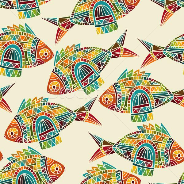 ベクトル 明るい パターン テクスチャ ストックフォト © alexmakarova