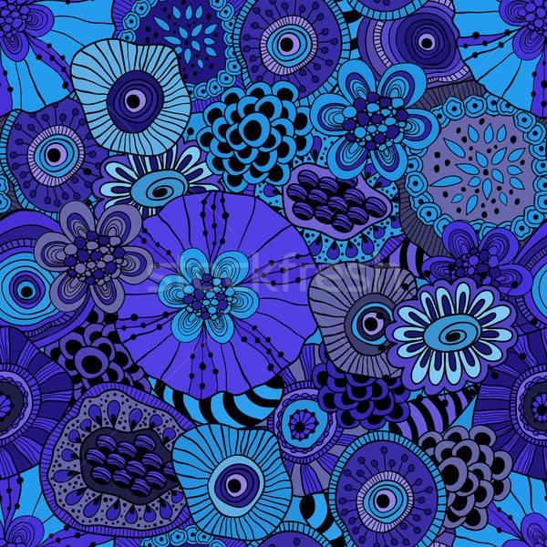 Vector Abstract Seamless  Floral Composition Stock photo © alexmakarova