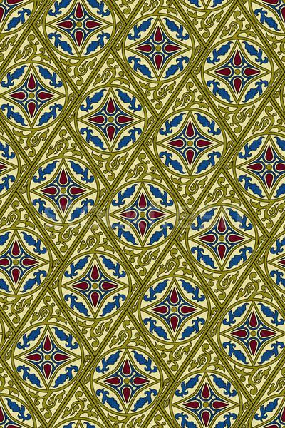 ベクトル 東部 スタイル 抽象的な 葉 ストックフォト © alexmakarova