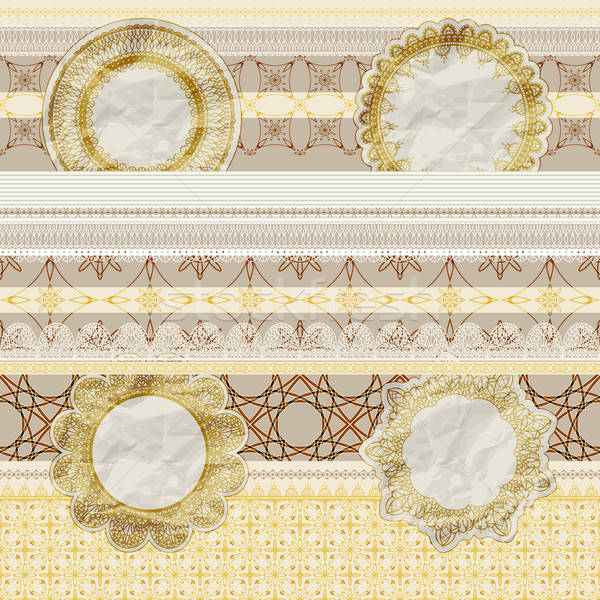 vector  seamless pattern with scrapbook elements Stock photo © alexmakarova