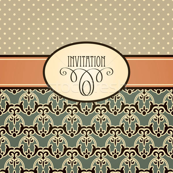 Vector retro invitation Stock photo © alexmakarova