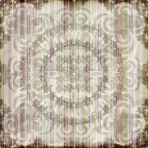 Vettore senza soluzione di continuità floreale wallpaper strisce brucia Foto d'archivio © alexmakarova