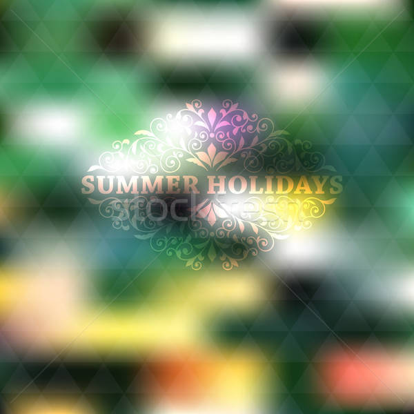 Vector Summer Background Stock photo © alexmakarova