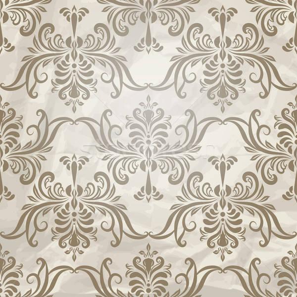 Vektor végtelenített régi tapéta minta papír textúra szerkeszthető Stock fotó © alexmakarova