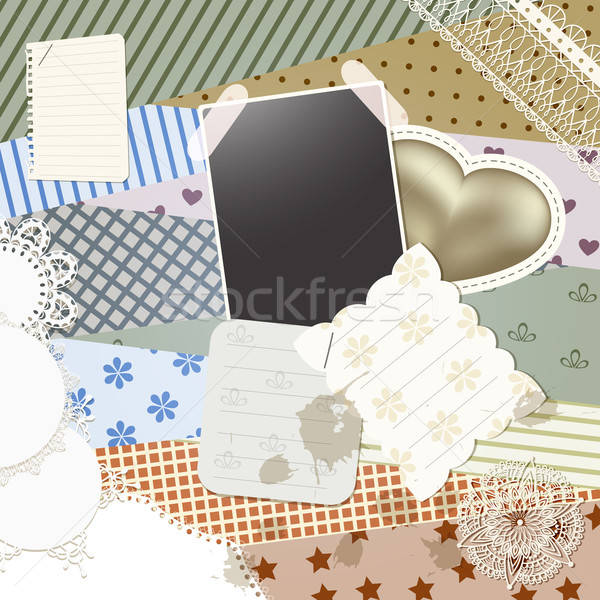 Vettore scrapbook modello design elemento può Foto d'archivio © alexmakarova