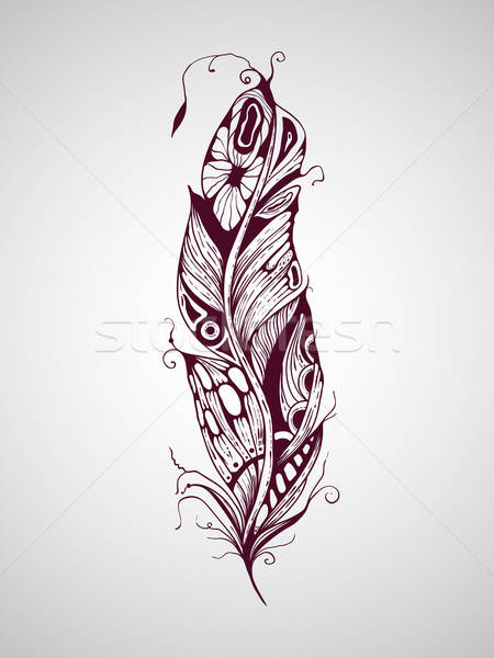 Stock photo: Vector Feather