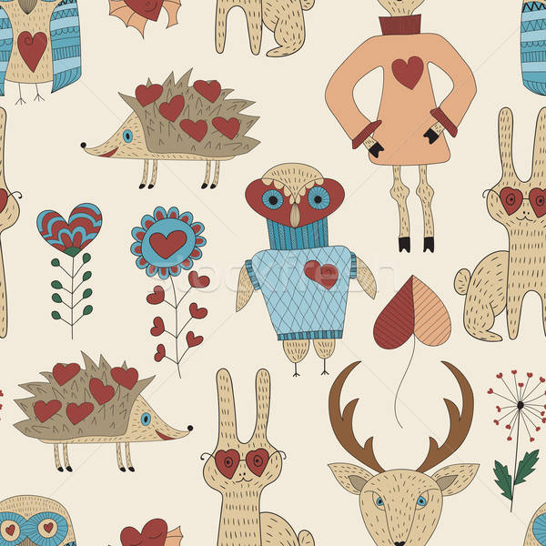 Vector Childish Seamless Pattern  Stock photo © alexmakarova