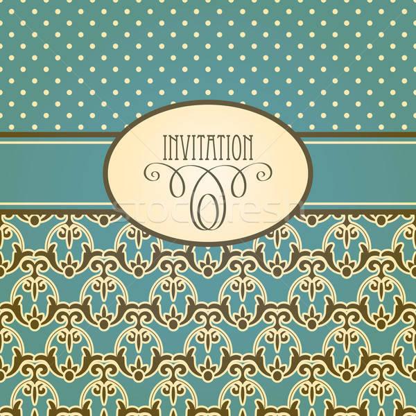Vector Invitation Card Stock photo © alexmakarova