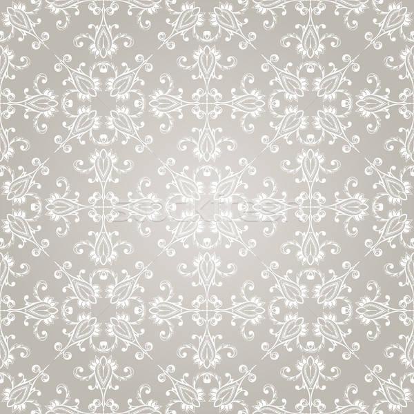 Vektor végtelenített régi tapéta minta gradiens szerkeszthető Stock fotó © alexmakarova