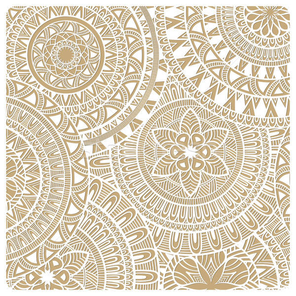 Vector  Hand Drawn Doodle Lacy Pattern Stock photo © alexmakarova