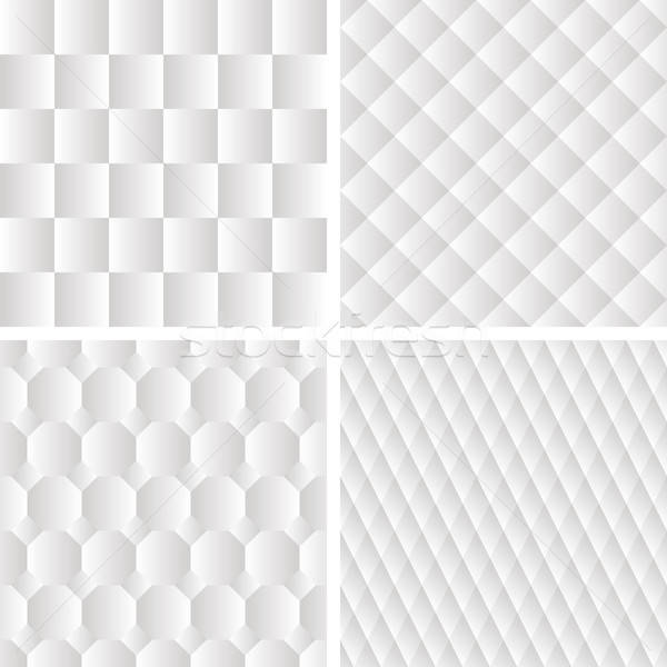 4 seamless geometric patterns Stock photo © alexmakarova