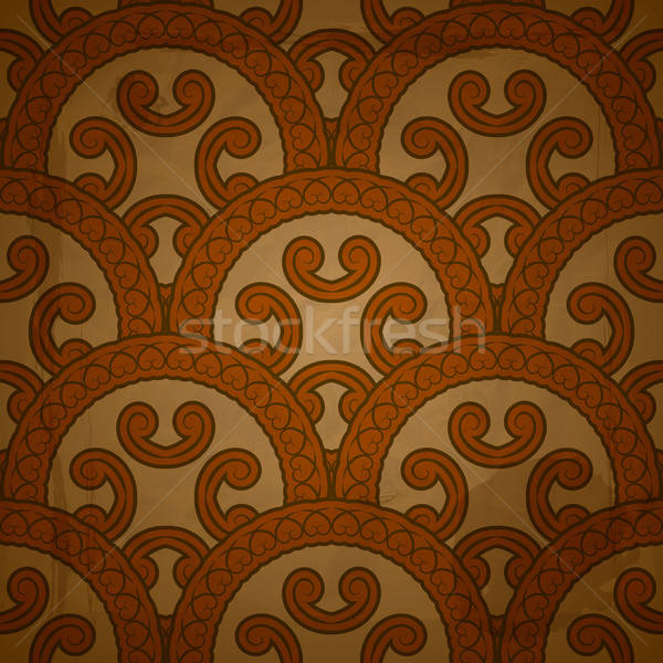 vector seamless  pattern on red grungy background with crumpled  Stock photo © alexmakarova