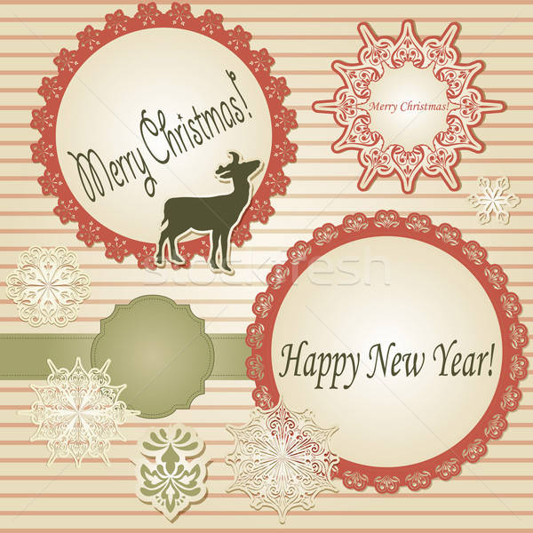 Vector Christmas Scrapbook Stock photo © alexmakarova