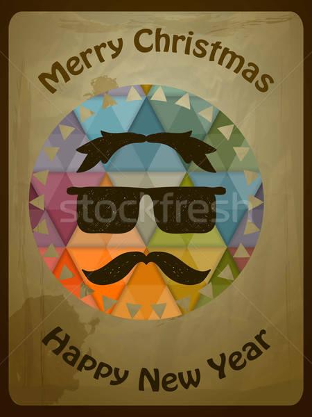 Vetor natal cartão cara eps Foto stock © alexmakarova